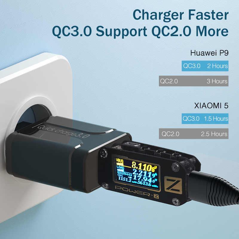 YKZ de carga rápida 3,0 18W QC 3,0 4,0 cargador rápido USB de carga portátil cargador de teléfono móvil para iPhone Samsung Xiaomi Huawei