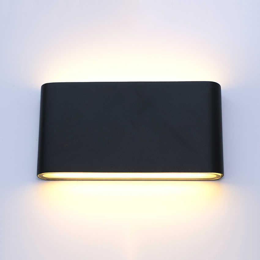 Lámparas de pared LED para exteriores, lámparas de pared de aluminio impermeables, porche, jardín, pared del pasillo, aplique de pared interior, CDB-07 de luz
