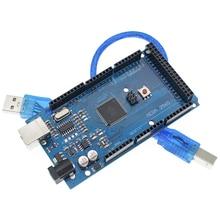 10 セットtenstarロボットメガ 2560 R3 (ATmega2560 16AU CH340G) avr usbボード + usbケーブルATMEGA2560 arduinoのための