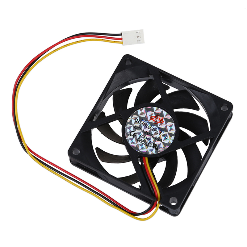 70mm PC Chassis Computer Case 3 Pin Fan Cooling Cooler