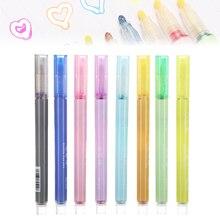 NEUE 8 Farben Doppel Linie Stift Malerei Umriss Stift Student Highlighter Marker Stift Für DIY Karte Journaling Zeichnung Hervorhebung