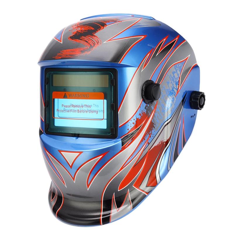 Tools : Li Battery Solar Power DIN9-DIN13 Auto Darkening TIG MIG MMA Electric Welding Mask Helmets Welder Glasses For Welder
