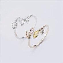Anéis para mulheres femininas jóias acessório casamento nupcial noivado promessa presente ajustável 2020 novo design cor de prata ouro