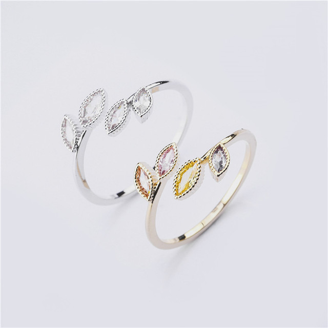 Rings For Women Females Jewelry Accessory Bridal Wedding Engagement Promise Gift Adjustable 2020 New Design Gold Silver Color