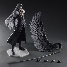 28cm Play Arts Figures Kai Final-Fantasy VII 7 Sephiroth PVC Action Figure Squall Leonhart Gunblade Figure collectible Model toy 26cm wolverine figure logan x men x men play arts kai wolverine james logan howlett play art kai pvc action figure