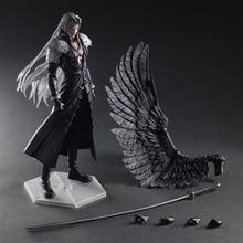 28cm Play Arts Figures Kai Final-Fantasy VII 7 Sephiroth PVC Action Figure Squall Leonhart Gunblade Figure collectible Model toy стоимость