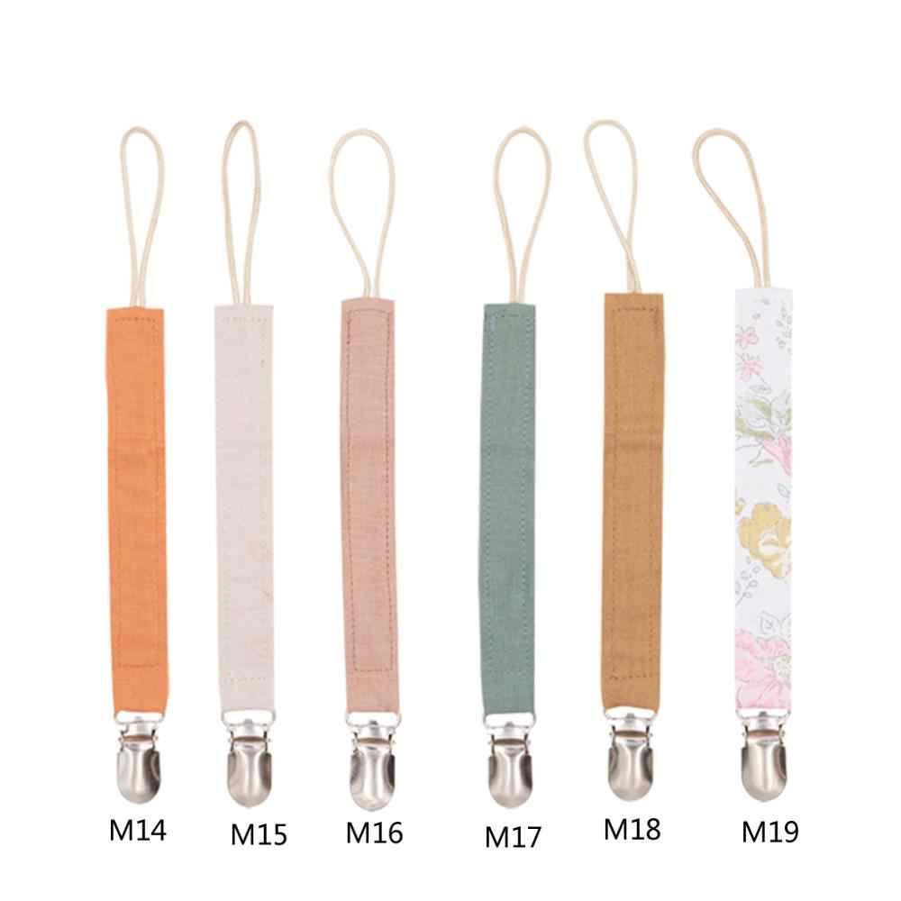 Boho Dummy Chain Cotton Pacifier Holder Natural Baby Soother Clip Macrame Dummy Clips