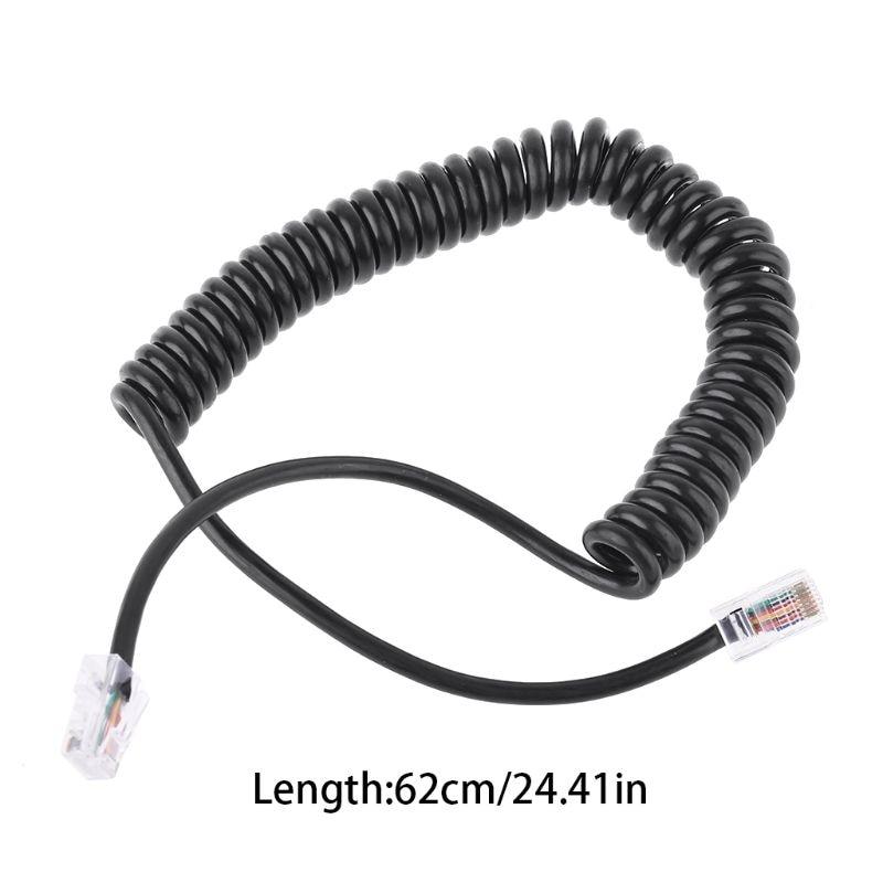 8Pin RJ45 To RI45 Speaker Mic Cable Line For ICOM HM-98 HM-133 HM-133V HM-133S
