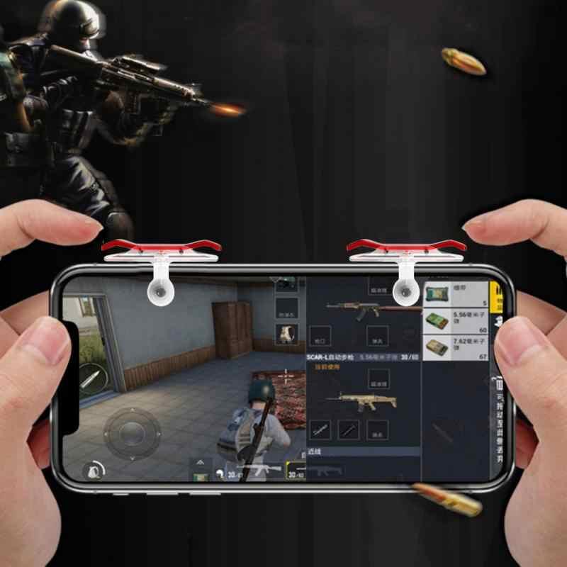 Pubg moible コントローラ送料火災 L1R1 トリガーゲームパッドゲームパッドグリップ L1R1Joysticks iphone ユーザーのため電話シューター