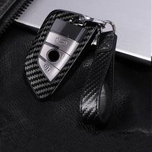 цена на PC Carbon Fiber Car Key Case Scratchproof Car Key Protection Cover For BMW 3 4 5 7 Series X1 X2 X3 X4 X5 X6 X7