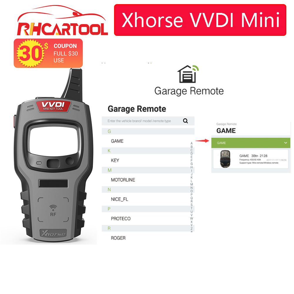 OBD2 Xhorse VVDI Mini <font><b>Key</b></font> Tool <font><b>Remote</b></font> <font><b>Key</b></font> <font><b>Programmer</b></font> Support IOS and Android Global Version With 96bit 48-Clone function image
