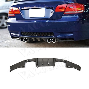 Carbon Fiber Rear Lip Diffuser Spoiler for BMW E92 M3 Coupe 2008-2013 FRP HM Style Bumper Protector Direct installation image