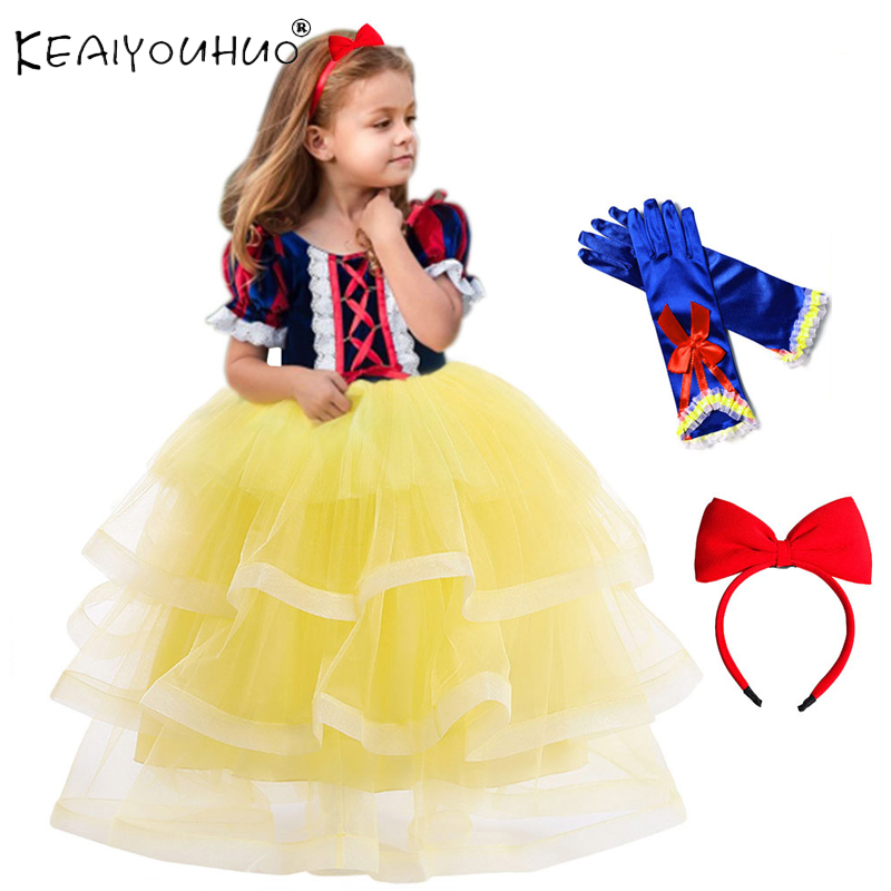 New Snow White <font><b>Dress</b></font> Child Fancy <font><b>Birthday</b></font> Party <font><b>Dress</b></font> Christmas Costume For Girls Carnival Cosplay <font><b>Dress</b></font> <font><b>4</b></font> 5 6 7 8 9 10 12 <font><b>Year</b></font> image