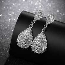 BTWGL Wedding Jewelry Rhinestone Style Earrings Womens 2019 Round Bohemian Gold and Silver Pendant