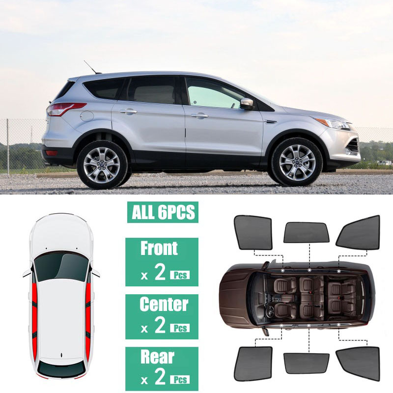Side Windows Magnetic Sun Shade UV Protection Ray Blocking Mesh Visor Fit For Ford Escape Kuga 2013-2018 title=