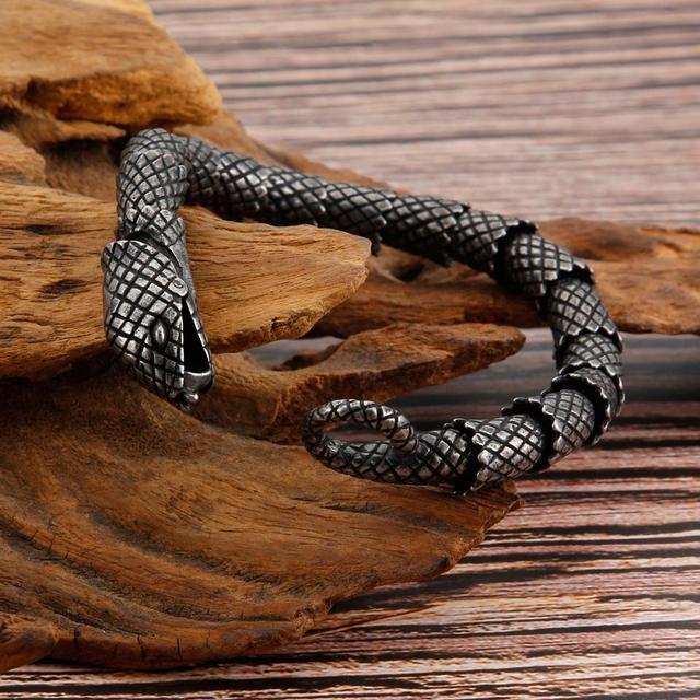 Bracelet rétro serpent chaîne en acier inoxydable 5