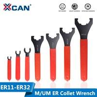 XCAN 1pc ER11/ER16/ER20/ER25/ER32 M/UM 유형 ER 콜렛 척 너트 렌치 CNC 밀링 공구 선반 공구 ER 스패너|공구홀더|도구 -