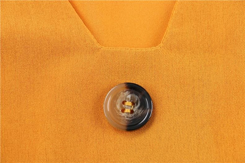 Ruffle Off Shoulder High Waist V Neck Casual Boho Beach Yellow Dress 7