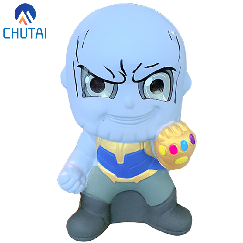 New Arrival Jumbo Kawaii Marvel Thanos Squishy Novelty Slow Rising Squeeze Toys Soft Scented Doll Toy Stress Relief For Kid Gift
