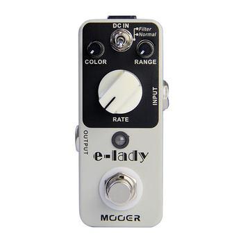 MOOER e-lady Pedal de efectos de guitarra Flanger analógico 2 modos Bypass verdadero cuerpo totalmente de Metal sonido Flanger analógico