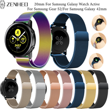 Frontier classic replace band for Samsung Galaxy Watch Active smart Gear S2 42mm bracelet