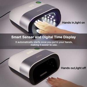 Image 3 - SUNUV SUN3 Сушилка для ногтей Smart 2,0 48 Вт Светодиодный УФ лампа для ногтей с умным таймером память Невидимый Цифровой таймер дисплей сушильная машина для ногтей