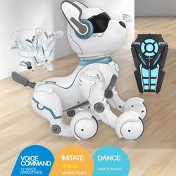 Remote Control Smart Stunt Robot Dog Intelligent Programming Science Early Education Smart & Dancing Robot Dog Toy Kid Gift