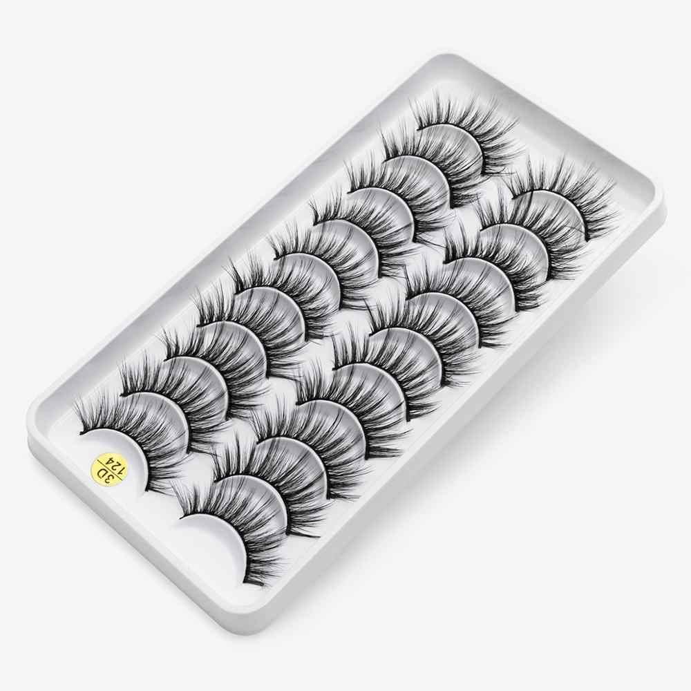 5/10 paar Nerz Wimpern Handgemachte Faux Nerz Wimpern Lange Weiche Augen Wimpern Wimpern Verlängerung Natürliche Make-Up Schönheit Verlängerung Werkzeug
