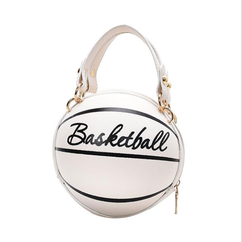 1Pcs Ball Purses For Teenagers Women Shoulder Bags Crossbody Chain Hand Bags Personality Female Leather Pink Basketball Bag