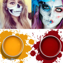 Imagic Sementara Tato Tubuh Lukisan Seni Tubuh Stiker Tubuh Makeup Dicat Warna Flash Halloween Fancy Karnaval(China)