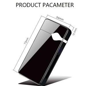 Image 5 - Touch Dual Arc Aansteker Elektronische Usb Opladen Aansteker Roken Elektrische Aansteker Winddicht Metalen Plasma Aanstekers Gift