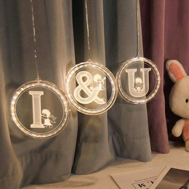 INS Hot-selling LED Decorative Lamp English Alphabet Lamp Marriage Courtesy Design Lamp Birthday Night Lamp