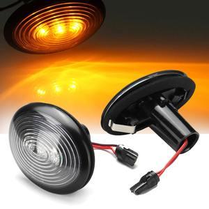 Image 1 - 페어 자동차 LED 사이드 마커 표시기 리피터 라이트 옐로우 턴 신호 경고 램프 미니 R55 용 방수 R56 R57 R58 R59 R60