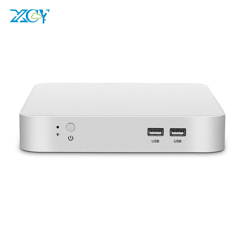 XCY Mini PC Intel Celeron N3160 Quad-Core Windows 10 Nettop HDMI VGA 6xUSB WiFi Gigabit Ethernet Office Micro Desktop Computer