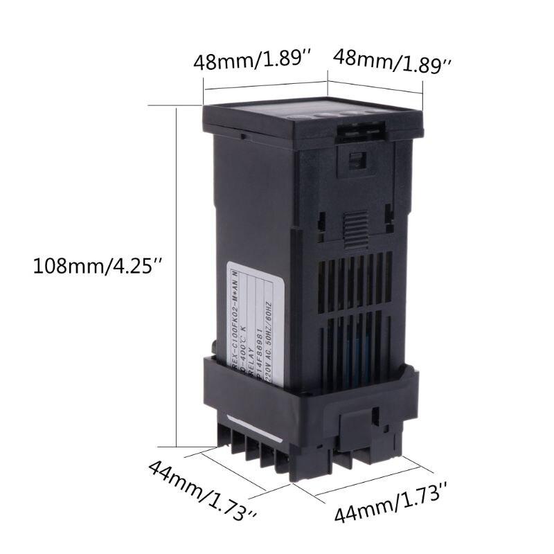 Digitas com Escala Saída do Relé do Controlador de Temperatura de Rex-c100 Graus Celsius 0-400 50hz