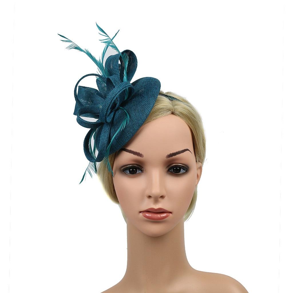 Женские заколки для волос ручной работы с перьями для вечеринки, выпускного, свадьбы, на каждый день, аксессуары для волос, головные уборы дл...