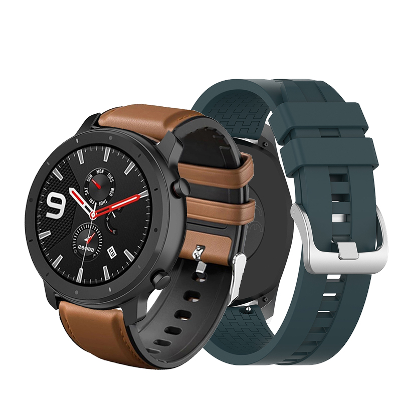 22mm Replaceable Watchbands For HUAWEI WATCH GT 2 46mm/GT Active 46mm/HONOR Magic Silicone Strap Band GT2 Silicone Leather Band
