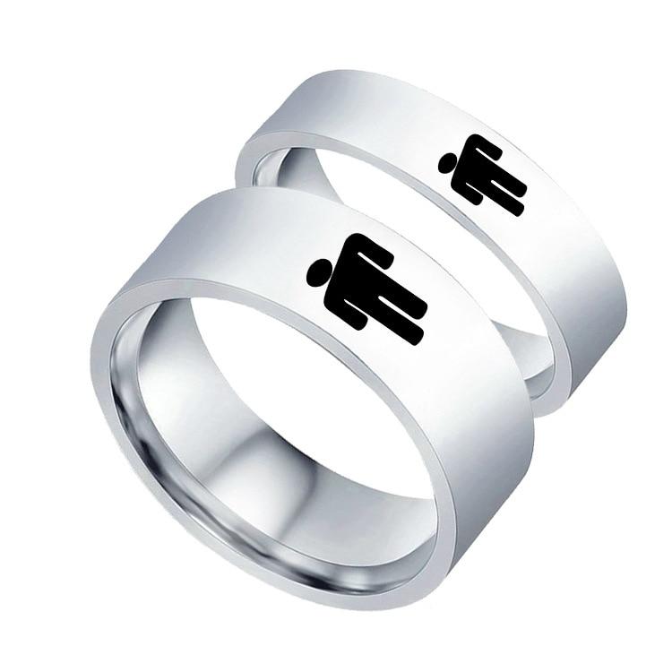 Купить с кэшбэком New Billie Eilish Ring Hiphop Rapper  Finger Figure Stainless Steel Billie Eilish Lover Ring Jewelry for Women Girl Fans Gift