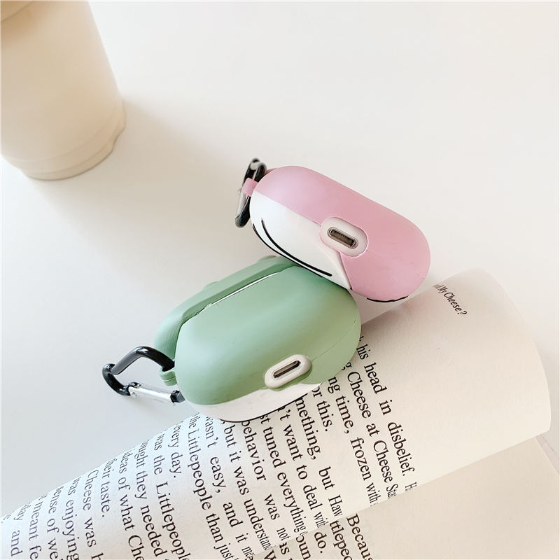 For airpods case 3D cute Dinosaur couple wireless Bluetooth headset protector For Airpods 1 2 silicone crocodile earphone case in Earphone Accessories from Consumer Electronics