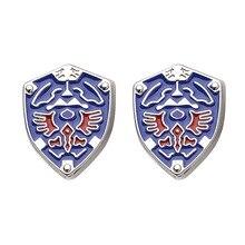 цена Game The Legend of Zelda Cufflinks Mens Shirt Triforce Shield Cuff Links Metal Enamel Buttons Cosplay Good Quality 10pairs/lot онлайн в 2017 году