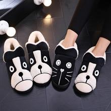 Comfort Memory Foam Couple Women Shoes Cartoon Dog Cat Botas Mujer Women Boots W