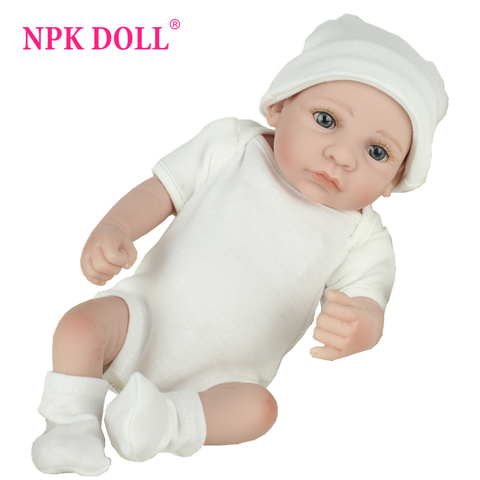 NPKDOLL 10 inch lifrlike bebe toy Mini Reborn Babies Boy Realistic Full Vinyl Handcraft Newborn Baby Doll Kids Christmas Gift Pakistan