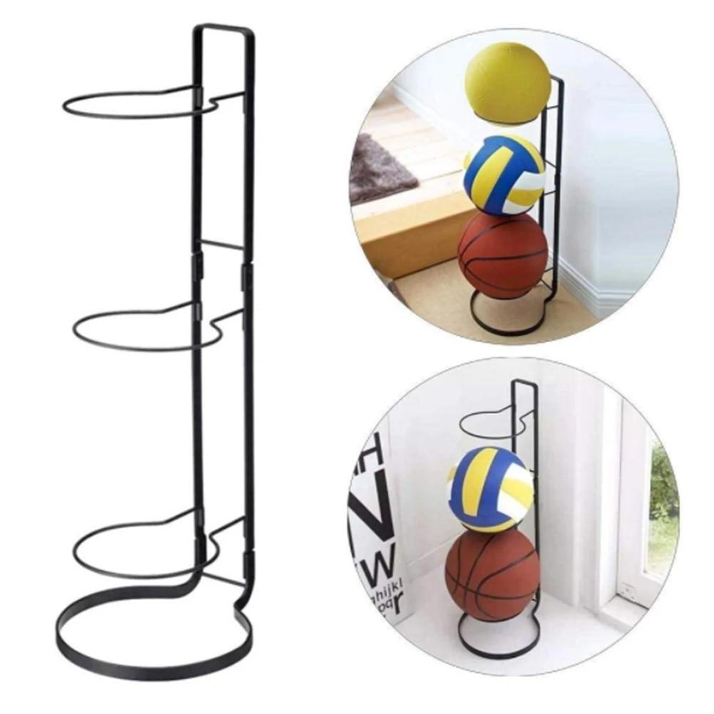 pallavolo 3 stack sportivi Organizer per pallacanestro per palloni da basket calcio Delaspe
