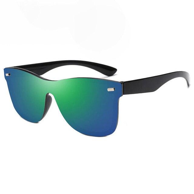 RBRARE-gafas de sol Siamesas para hombre y mujer, lentes de sol de lujo coloridas, Retro, con espejo rosa, 2021 2