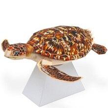 Craft-Toys Paper-Model Animal-Figure Marine Kids DIY 3D Adult Cute Mini QD-221 Cutting