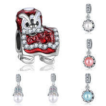 Fit Pandora Charms Plata Clips Silver 925 Original Bracelet Jewelry Making Valentine's Day Mary Bijoux Slide Beads(China)