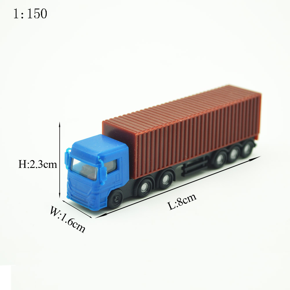 1/150 Scale Architectural Model Truck Toys Model Plastic Miniature Color Van For Diorama Model Buildings Roads Scenery Making