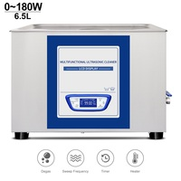 Digital Ultrasonic Cleaner 6.5L Bath Mute Sweep Frequency Degassing Dental Equipment Metal Part Auto degas Sonic Washing Machine|Ultrasonic Cleaners| |  -