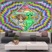 Alien Tapestry Mandala macrame hippie Art Wall Hanging Tapestries for Living Room Home Dorm Decor