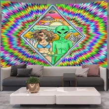 Alien Tapestry Dorm-Decor Wall-Hanging Mandala Macrame Hippie Art Living-Room Home